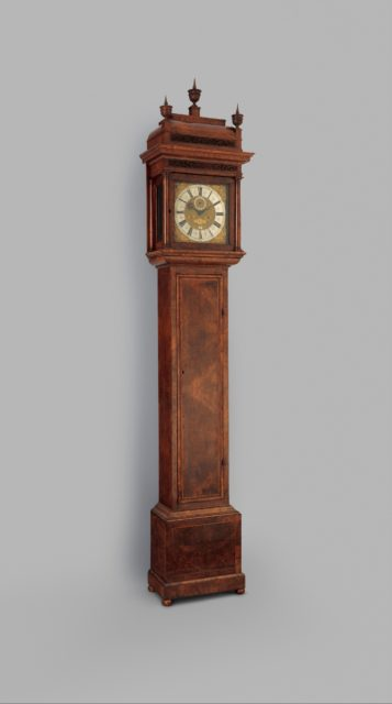 Longcase clock with calendar
