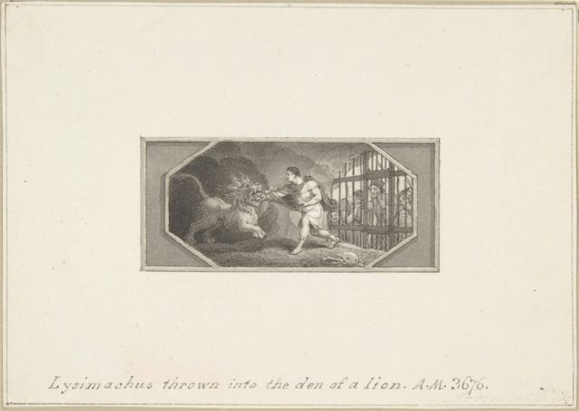 Lysimachus thrown into the Den of a Lion