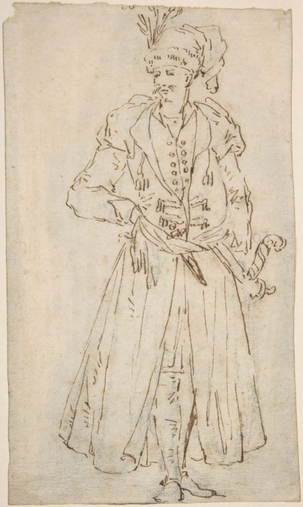 Man in a Long Coat and Turban with a Sword