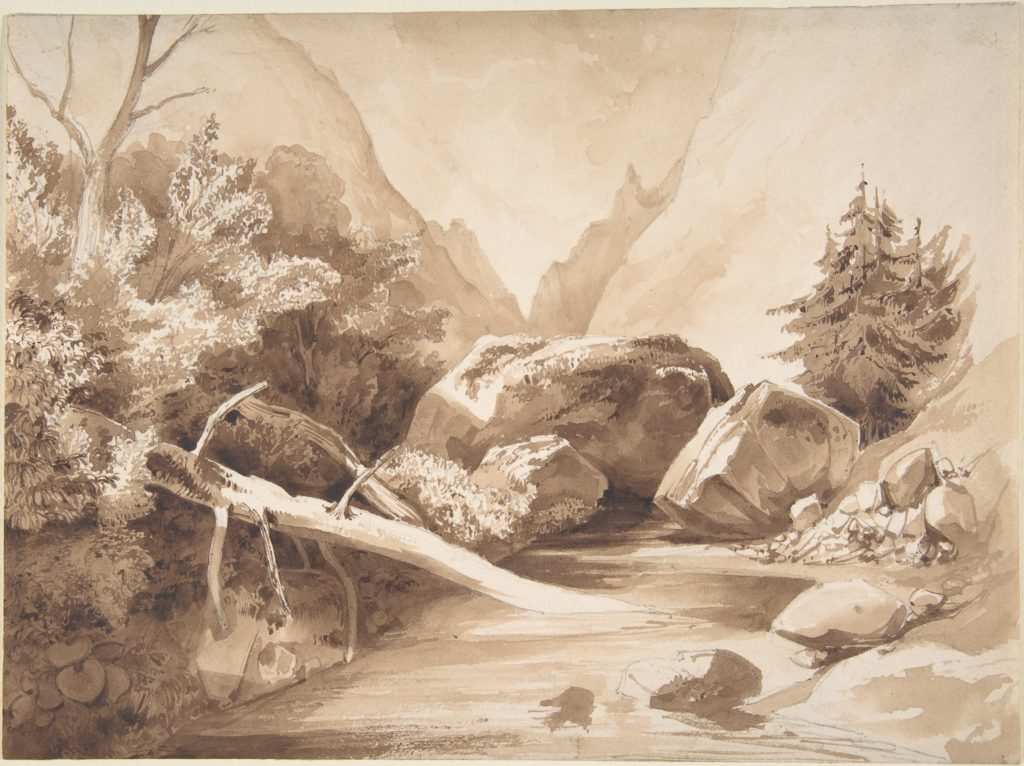 Mountainous Landscape with a Brook