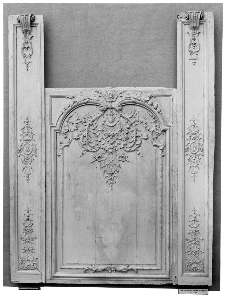 Panel between two pilasters