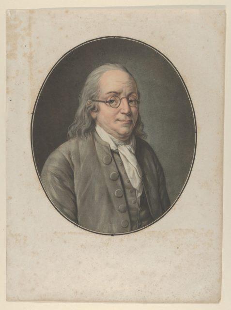Portrait of Franklin, after Vanloo