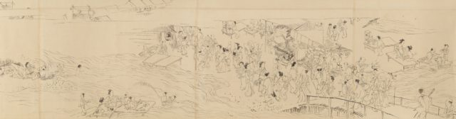 Preparatory drawing for scroll of the Four Seasons in Kyoto