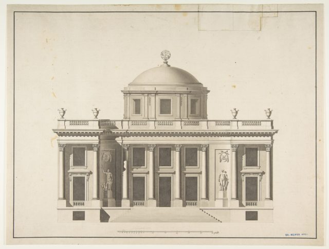 Project for a Domed Building with Colonnaded Façade