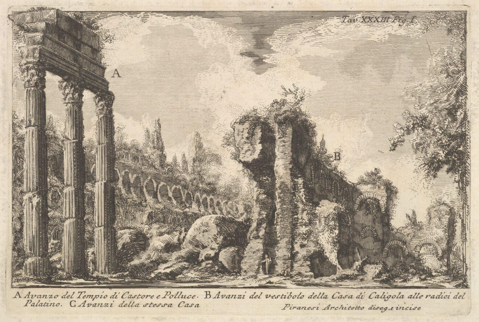 Remains of the Temple of Castor and Pollux . . . ( Avanzo del Tempio di Castore e Polluce . . .)