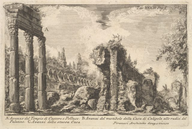Remains of the Temple of Castor and Pollux . . . ( Avanzo del Tempio di Castore e Polluce . . .)