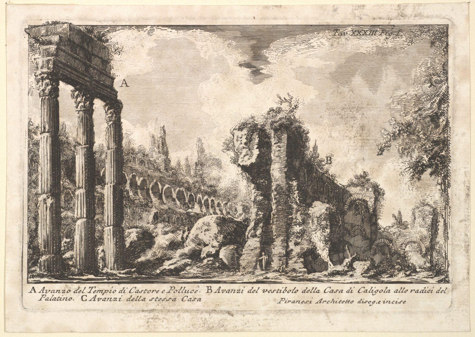 Remains of the Temple of Castor and Pollux . . . (Avanzo del Tempio di Castore e Polluce . . .)