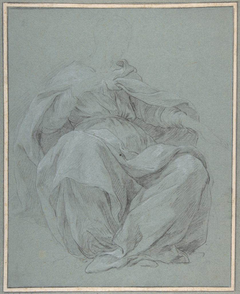 Seated Draped Figure