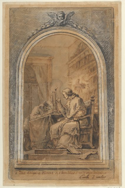 St. Gregory Dictating His Homilies to a Secretary