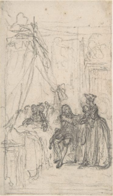 """Study for a frontispiece for """"Histoire de Miss Jenny"""""""