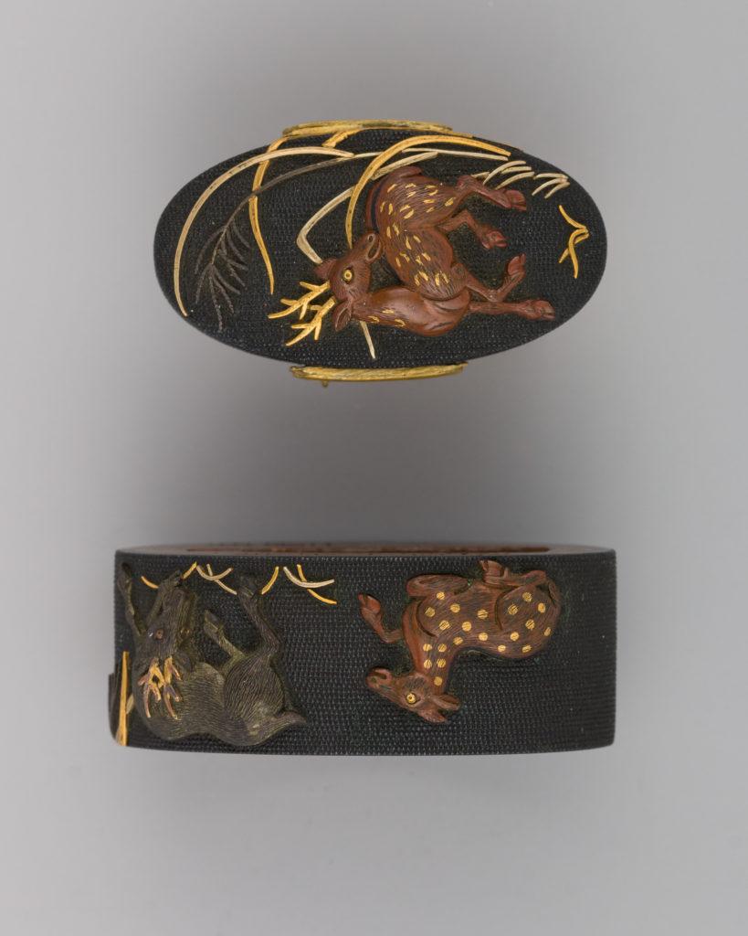 Sword-Hilt Collar and Pommel (Fuchigashira)