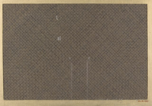 Textile fragment with plain weave with narrow cords as warp and weft