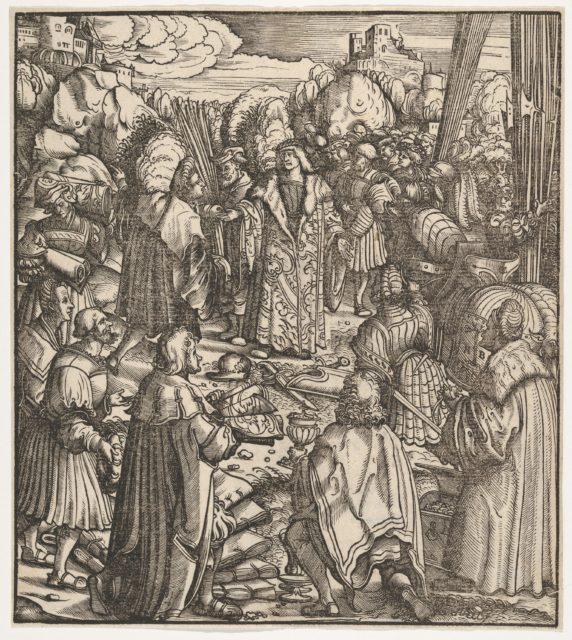 The Young Prince Standing Between His Secretaries, from Der Weisskunig