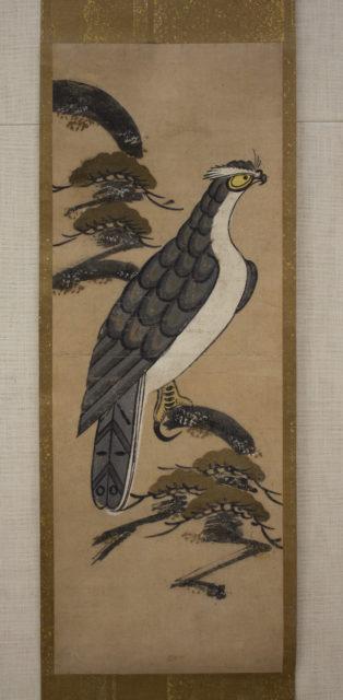 Ōtsu-e of Falcon on a Pine Tree
