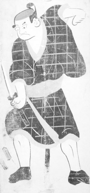 Ōtsu-e of Kabuki Actor Playing Hotei Ichiemon