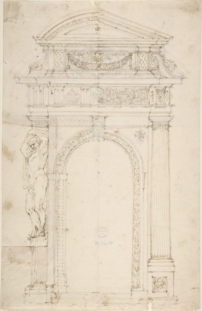 Two Alternate Designs for Triumphal Arch