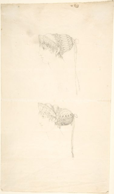 Two studies of Headdresses from Scrapbook