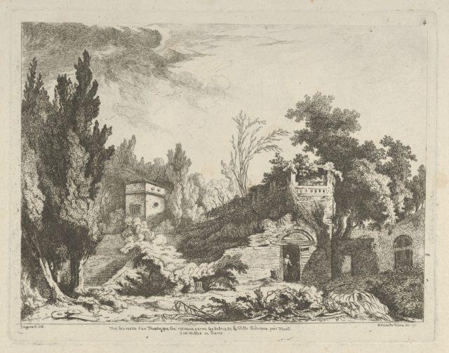 Vue des restes d'un théâtre from Differentes vues dessiné d'après nature... dans les environs de Rome et de Naples