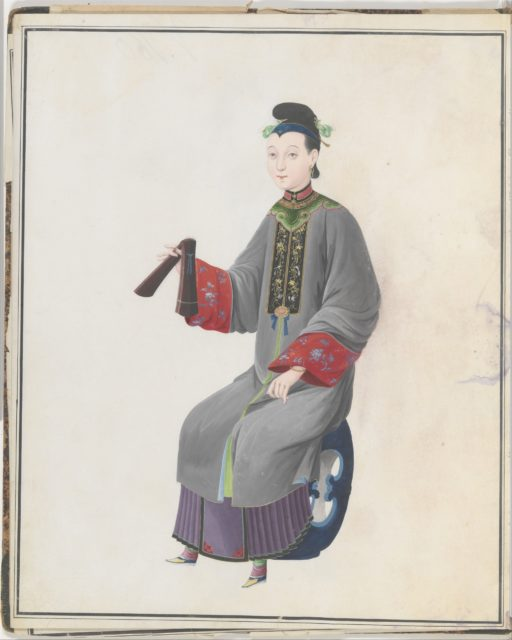 Watercolor of musician playing paiban