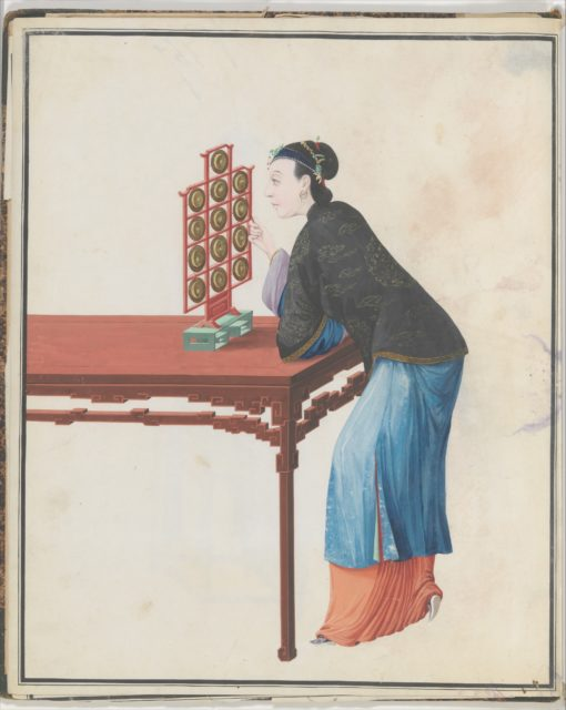 Watercolor of musician playing yunlo