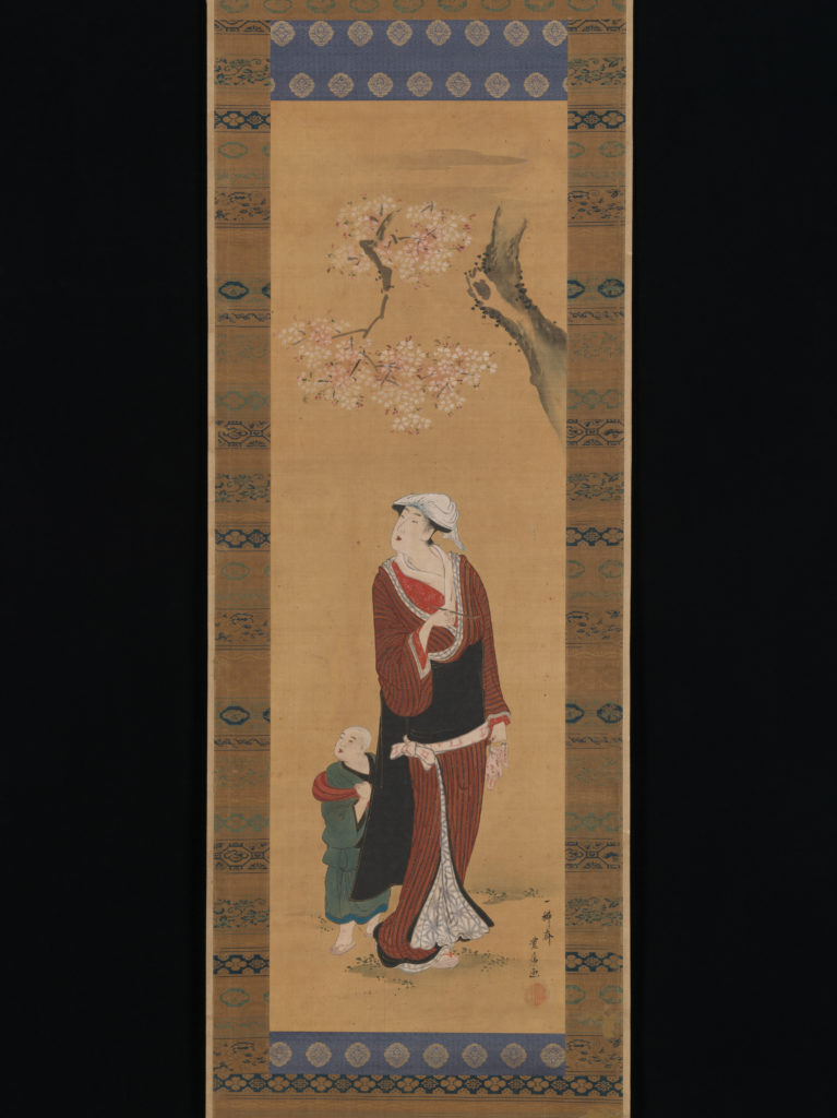 Woman and Child under a Cherry Tree