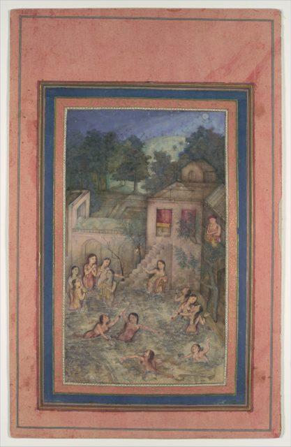 """Women Bathing by Moonlight"", Folio from the Davis Album"