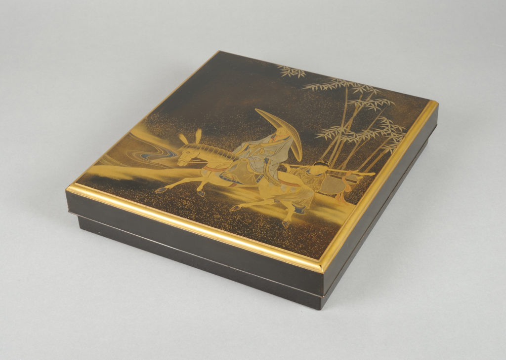 Writing Box with Chinese Poet Su Dongpo and Attendant