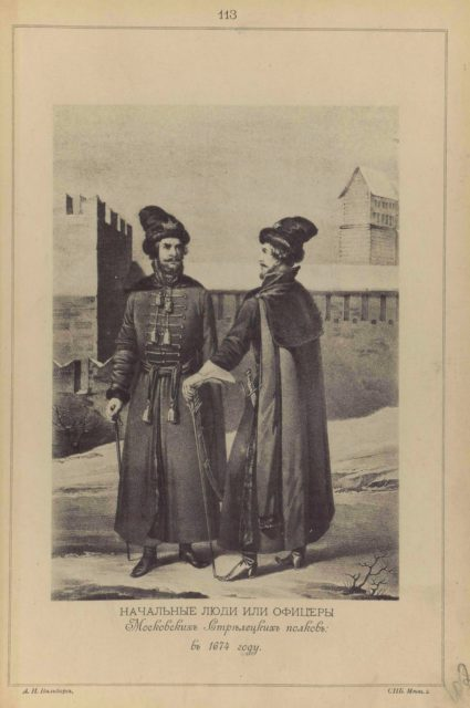 113. Chiefs or officers of the Moscow Streltsy Regiments in 1674