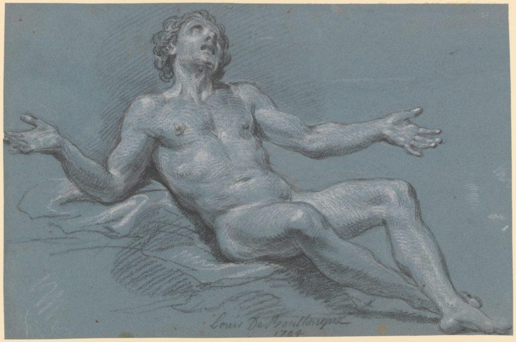 Seated Male Nude