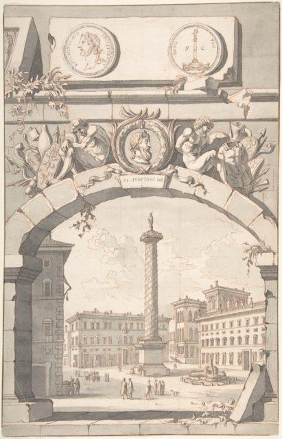 View of the Column of Marcus Aurelius