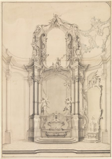 Design for the Transeptal Altars in the Klosterkirche Zwiefalten