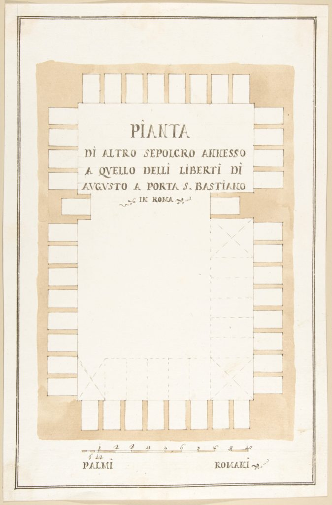Plan of a Tomb, Rome