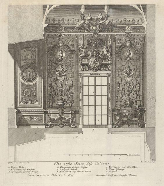 The First Wall of the Porcelain Room, from: 'Fürstlicher Baumeister Oder: Architectura civilis'