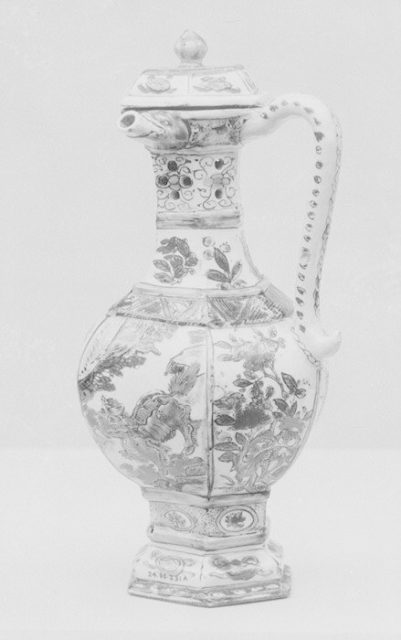 Ewer with cover (one of a pair)