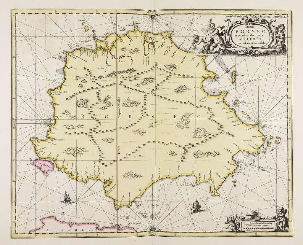 Insula Borneo et occidentalis pars Celebis cum adjacentibus insulis - CBT 6618604