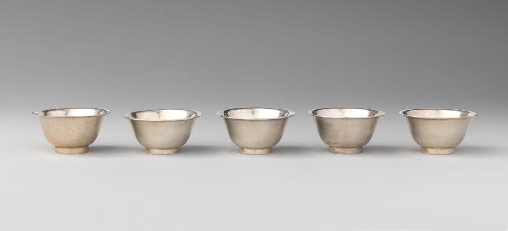 Five miniature cups