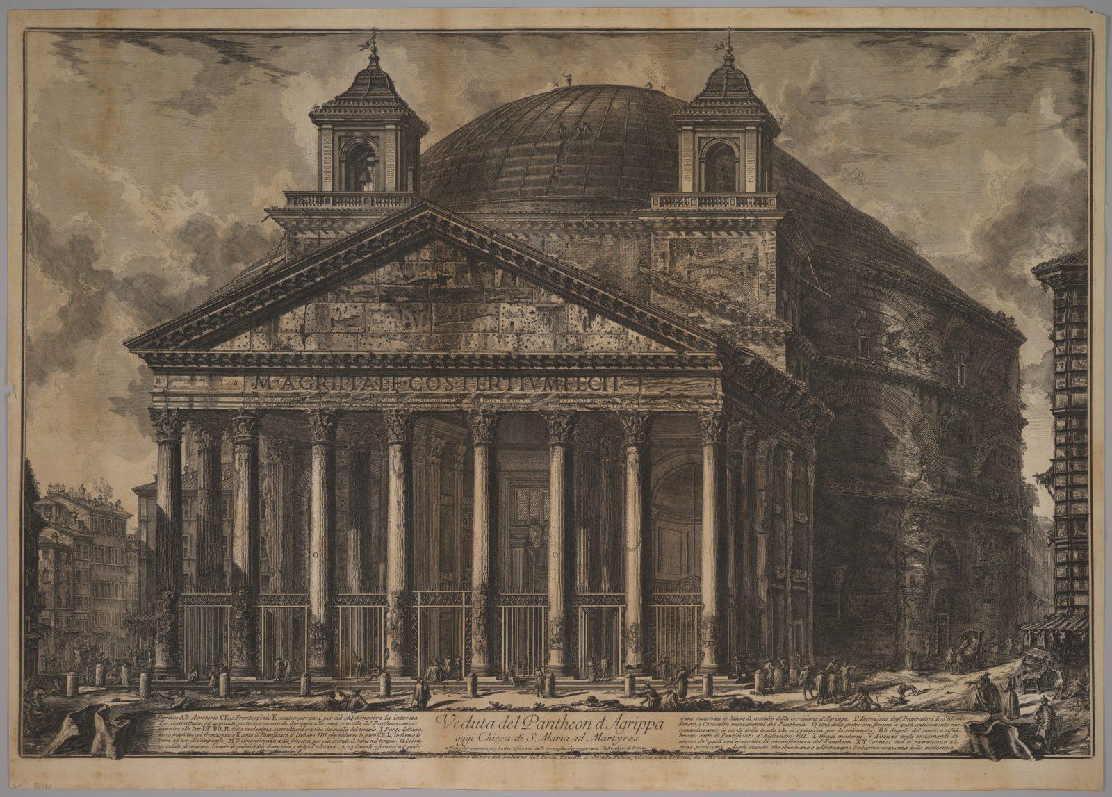 The Pantheon exterior (Veduta del Pantheon d'Agrippa oggi Chiesa di S. Maria ad Martyres)