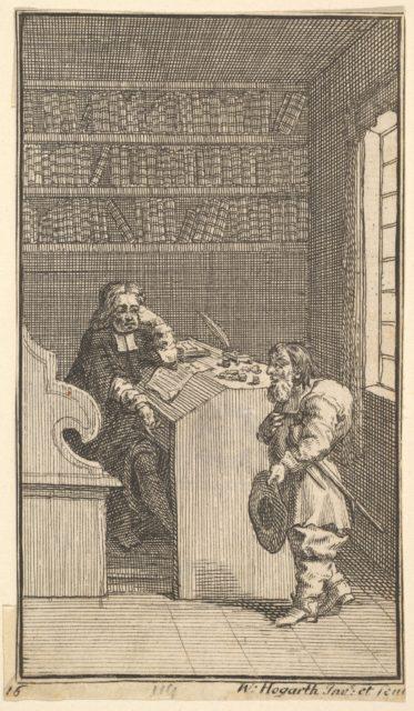 Hudibras and the Lawyer (Seventeen Small Illustrations for Samuel Butler's Hudibras, no.16)
