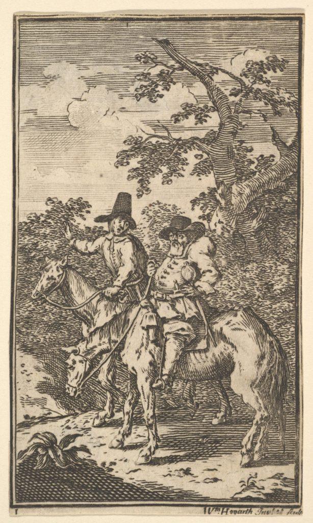 Hudibras Sallying Forth (Seventeen Small Illustrations for Samuel Butler's Hudibras, no. 1)