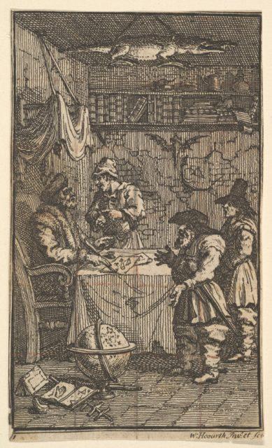 Hudibras Visiting Sidrophel (Seventeen Small Illustrations for Samuel Butler's Hudibras, no. 11)