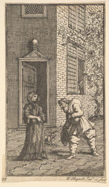 Hudibras Wooing the Widow (Seventeen Small Illustrations for Samuel Butler's Hudibras, no. 13)