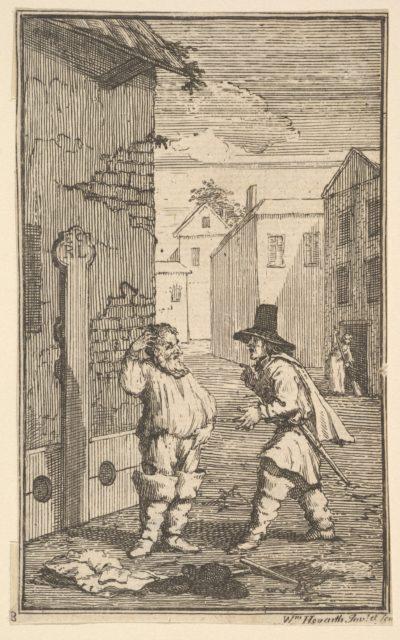 Hudubras and Ralpho Disputing (Seventeen Small Illustrations for Samuel Butler's Hudibras, no. 8)