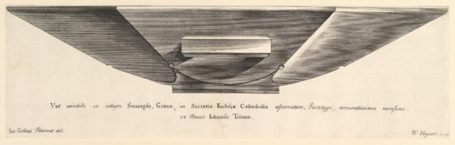 "An Emerald Vessel (Aubry de La Mottraye's ""Travels throughout Europe, Asia and into Part of Africa...,""  London, 1724, vol. I, plate 5)"