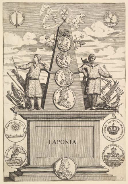 "Laponia (Aubry de La Mottraye's ""Travels throughout Europe, Asia and into Part of Africa...,""  London, 1724, pl. 312)"