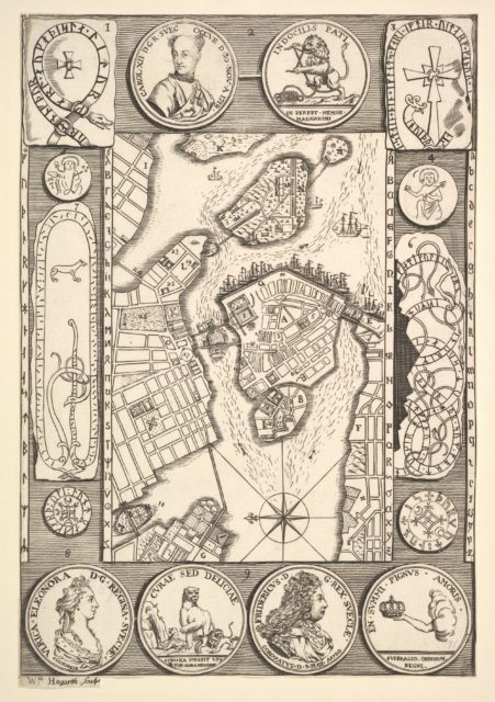 "Map of Stockholm (Aubry de La Mottraye's ""Travels throughout Europe, Asia and into Part of Africa...,""  London, 1724, vol. II, pl. 32)"