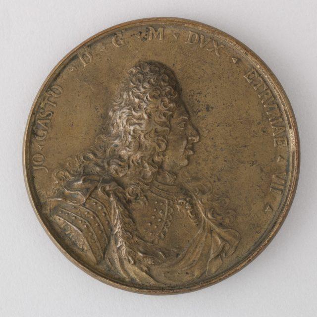 Medal Showing Giovanni Gastone, VII Duke of Tuscany