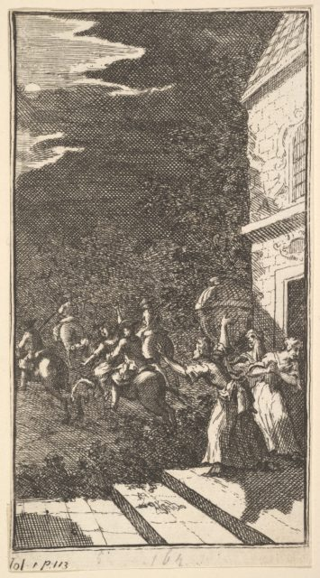 The New Metamorphosis, Plate 3: The Bandits Abduct Camilla