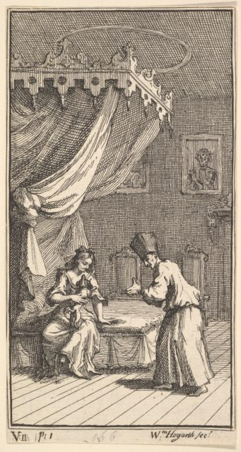 The New Metamorphosis, Plate 5: Fantasio, Transformed into a Lapdog, in the with Donna Theresa