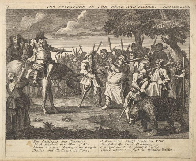 The Adventure of the Bear and the Fiddle (Plate 3: Illustrations to Samuel Butler's Hudibras)
