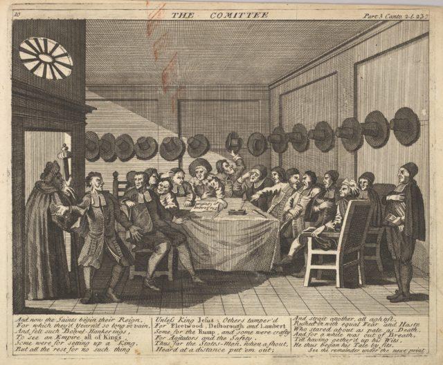 The Committee (Plate 10: Illustrations to Samuel Butler's Hudibras)
